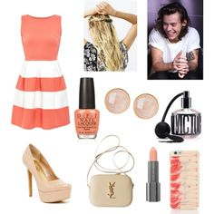 party with harry by the-older-sister on Polyvore featuring polyvore fashion style Cameo Rose Jessica Simpson Yves Saint Laurent Saachi Kate Spade Free People Easy Spirit Victoria's Secret OPI
