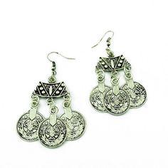 Bohemian Ethnic Dangle Coin Earrings. 2.88€ on Magnolia Jewel Factory (no minimum order), AliExpress.com