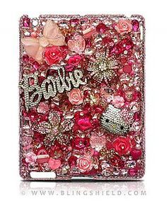 This super expensive beautiful ipad case.want so bad :( Cell Phone Covers, Ipad Mini, Ipad Case, Hello Kitty, Iphone Cases, Bling Bling, My Love, Crafts, Badass
