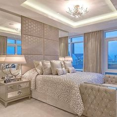 10 Exclusive Bedside Tables for your Master Bedroom Decor Master Bedroom Design, Dream Bedroom, Home Bedroom, Bedroom Decor, Master Bedrooms, Bedroom Designs, Modern Bedroom, Bedroom Neutral, Couples Apartment