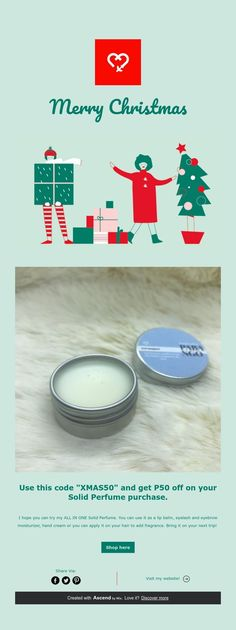 Use this code and get off on your Solid Perfume purchase. Solid Perfume, The Balm, Merry Christmas, How To Apply, Merry Little Christmas, Wish You Merry Christmas