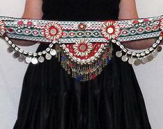 Belly Art, Belly Dance Belt, Tribal Costume, African Fashion Skirts, Beginner Crochet Projects, Embroidery Neck Designs, Boho Boots, Afghan Dresses, Tribal Belly Dance