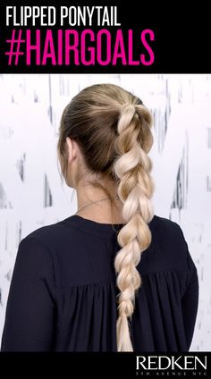 this cool flipped ponytail style is easier than it looks dc9e62f08b5e
