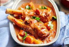 These slow-cooked lamb shanks  make dinner easy - and delicious