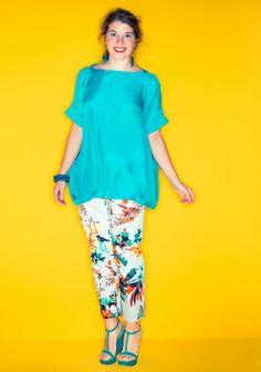 Pusero ja housut XL-koot. SK 5-6/14. Sewing, Tops, Women, Fashion, Dressmaking, Tunics, Moda, Couture, Women's