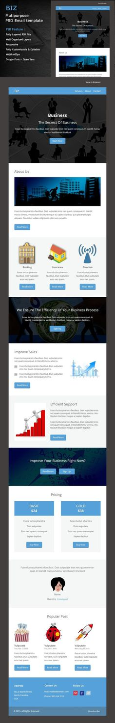 Caw Caw  Responsive Email Template Psd  Email Templates
