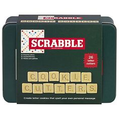 Scrabble Cookie Cutters - from Lakeland