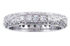 INTRICATELY CARVED WEDDING BAND IN PLATINUM WITH .65 PTS OF FINE DIAMONDS. 4MM WIDTH 2.2mm depth substantial heft.  - See more at: http://www.weddingrings.com/INTRICATE%20VINTAGE%20CARVING/Vintage%20Style/20/10/281/item