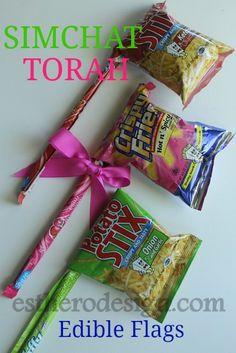 Edible Simchat Torah Flags