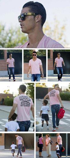 Cristiano Ronaldo And Cristiano Jr   September 8, 2014