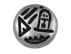 3 Offshore Metal Shank Buttons Antique Silver Black by ButtonJones, $4.20