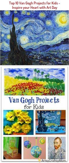 Vincent Van Gogh Projects for Kids – 10 Inspiring Ideas to try with your kids, celebrateing 'Inspire your Heart with Art Day' [ Jan31st] Featuring starry night, sunflowers, art & craft. Ar tAppreciation for kids Beginner Yoga, Yoga For Beginners, Vinyasa Flow Sequence, Day Van, Kids Inspire, Vincent Van Gogh, Your Heart, Projects For Kids, Sunflowers