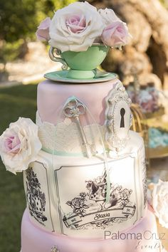 Decoración cumpleaños Alicia en el país de las maravillas   Birthday decoration Alice in wonderland