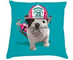 Pas de panique ! Teo Rescue votre sauveteur est là... Le Coussin Teo Rescue de Téo Jasmin est un très beau coussin représentant un chien sauveteur. Coussin Teo Rescue Menthe by Téo Jasmin 40x40cm
