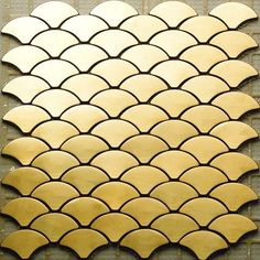 gold fish scale tile - stainless steel ... floor? counters?  anywhere?! trim? love this!