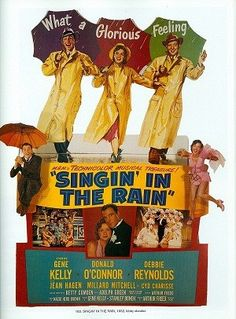 Magnet Singin' in the Rain movie poster by CrossEyedCatGifts, $3.00
