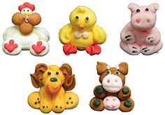20  Farm Animals Edible Royal Icing Decorations for by goodman969, $24.95