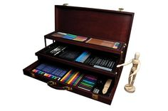 "Royal & Langnickel Premier Sketching and Drawing Deluxe Art Set, The Premier Sketching and Drawing Set by Royal & Langnickel defines ""deluxe"" Drawing Sketches, Art Drawings, Drawing Art, Drawing Guide, Drawing Ideas, Sketching, Artist Mannequin, Vine Charcoal, Artist"