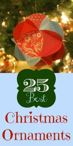 25 Great Handmade Christmas Ornaments remodelaholic.com #christmas #ornaments #DIY #homemade #gitfs