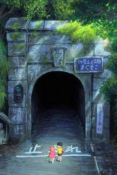 Ponyo | Old tunnels are my favorite part in Miyazaki movies.