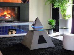 Modern Futuristic Ideas of iPod Pyramid Coffee Table
