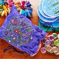 Embellished Drawstring Bag
