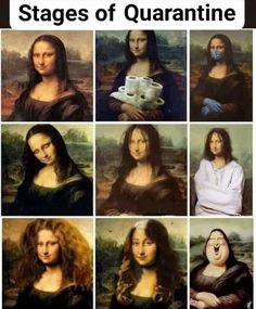 Mona Lisa put through the wringer ! Funny Af Memes, Really Funny Memes, Stupid Memes, Funny Relatable Memes, Haha Funny, Hilarious, Funny As Hell, Just For Laughs, Funny Comics