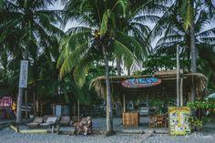 Ticos Surf School on the beach in Samara. Guanacaste. Costa Rica