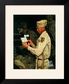 """War Bond"", July 1,1944 Giclee Print by Norman Rockwell at Art.com"