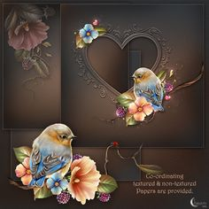 A Bluebird couple in love. That's the theme of Moonbeam's Love me Tendre.