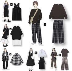 Korean Girl Fashion, Korean Street Fashion, Ulzzang Fashion, Korea Fashion, Korean Outfit Street Styles, Korean Outfits, Fashion Moda, 80s Fashion, Fashion Tips