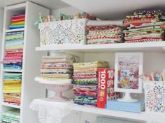 25 organizing ideas for sewing room - The Little Mushroom Cap: A Quilting Blog Sewing Spaces, Sewing Rooms, Sewing Room Furniture, Furniture Ideas, Sewing Room Organization, Organizing Ideas, Clutter Organization, Scrapbook Box, Scrappy Quilts