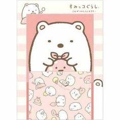San-X Sumikkogurashi Mini Letter Set | Shirokuma - http://www.stationeryheaven.nl/briefpapier/postpapier/lettersets