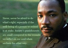 I love this!  Always stand up for what is right!