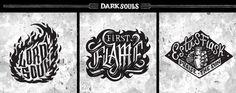 Dark Souls Emblem Collection on Behance Ornstein Dark Souls, Soul Tattoo, Knight, Badge, Logo Design, Design Inspiration, Fan Art, Anime, Behance