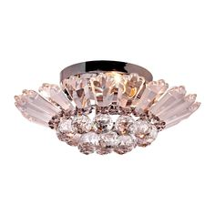 New Style 110V 3*E14 Crystal Circular LED Ceiling light #Affiliate