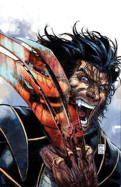 wolverine vs thing by witchfox on DeviantArt Comic Book Characters, Comic Book Heroes, Marvel Characters, Comic Character, Comic Books Art, Comic Art, Man Character, Character Design, Fictional Characters