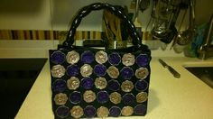 Handbag made by myself Nespresso, How To Make Handbags, Oeuvre D'art, Bag Making, Recycling, Projects To Try, Patches, Mini, Accessories