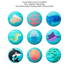 Hand Painted Knob - Children& Custom Hand Painted Marine Sea Life Critters Ocean Animal Drawer Knobs Pulls or Nail Covers for Kids USD) by Coolisart Wooden Tea Light Holder, Wooden Candle Holders, Knobs And Handles, Knobs And Pulls, Drawer Knobs, Cabinet Knobs, Wooden Handles, Painted Fan, Hand Painted Walls