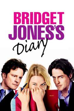 Bridget Jones's Diary movie poster - chaotic Bridget Jones meets a snobbish lawyer, and he soon enters her world of imperfections. Bridget Jones Diary Movie, Bridget Jones's Diary 2001, Bridget Jones Baby, Renee Zellweger, One Punch, Tv Series Online, Movies Online, Episode Online, Working Title Films