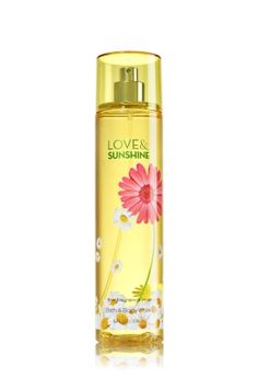 Love & Sunshine - Fine Fragrance Mist - Bath & Body Works - Lavishly splash or lightly spritz your favorite fragrance, either way you'll fall in love at first mist! Our carefully crafted bottle and sophisticated pump delivers great coverage while conditioning aloe mist nourishes skin for the lightest, most refreshing way to fragrance!