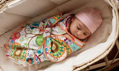 Know any newborns? This swaddling blanket can be made with a beautiful fabric of your choice and will be a useful present