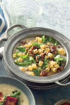 Learn how to make Sausage-and-Collard Greens Stew . MyRecipes has tested recipes and videos to help you be a better cook Entree Recipes, Top Recipes, Chili Recipes, Wine Recipes, Whole Food Recipes, Vegetarian Recipes, Collard Green Soup, Collard Greens, Fun Cooking