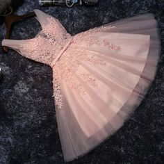 On Sale Magnificent Pink Party Dresses Skin Pink Lace V Neck Short Prom Dress Homecoming Dresses Party Gowns With Lace Back Up Homecoming Dresses Straps, Grad Dresses Short, A Line Prom Dresses, Dresses For Teens, Formal Dresses, Wedding Dresses, Dress Prom, Short Elegant Dresses, Casual Dresses