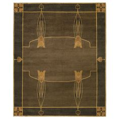 Mission Style Area Rugs The Gingko Motif In Arts And