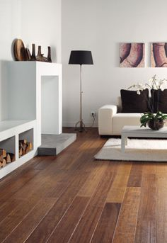 There are various kinds of tiles you'll be able to pick for the flooring of your living room. But if you want to make your living room look rustic and elegant, wooden flooring is such a wonderful choice is because it's simple to fit. Wooden Floors Living Room, Cozy Living Rooms, Wooden Flooring, My Living Room, Home And Living, Living Room Furniture, Flooring Ideas, Kitchen Living, Interior Exterior
