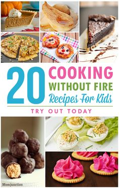 Are you in search of cooking without fire recipes for children? Not sure how to start? Here are 20 fireless cooking recipes and desserts to make with kids. Recipes Kids Can Make, Kids Cooking Recipes, Healthy Recipes, Healthy Cooking, Cooking Tips, Recipes For Children, Recipe For Children To Make, Kids Cooking Party, Beginner Cooking