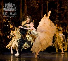 Beauty and Beast: Elisha Willis as Belle and Robert Parker as the Beast with Artists of Birmingham Royal Ballet; photo: Bill Cooper