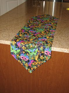 Mardi Gras table runner party table runner by StylinStitchesShop