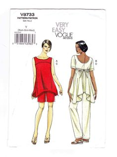 Tunic Sewing Pattern, Very Easy Vogue, Tunic, Shorts, Pants Sewing Pattern, UNCUT, Vogue Patterns, Size Small, Extra Small, Medium by OldSoulVintageltd on Etsy
